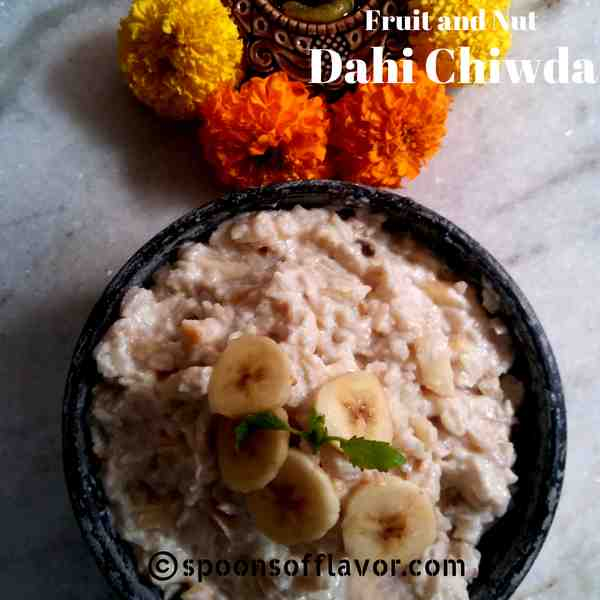 Fruit And Nut Dahi Chiwda Recipe