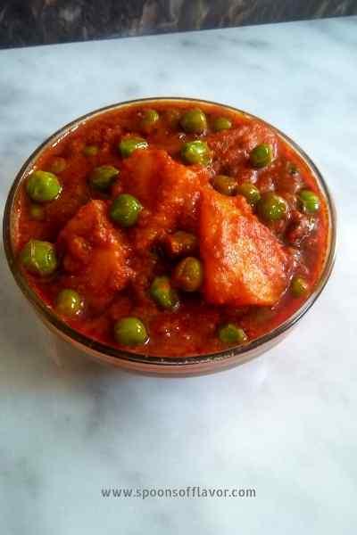 Aloo Matar Dhaba Style Aloo Matar Gravy Aloo Matar Curry Spoons Of Flavor
