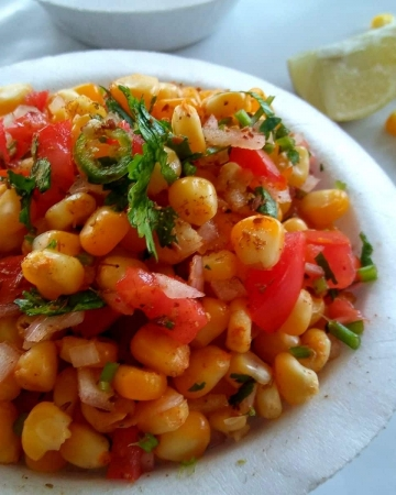 Indian Style Sweet Corn Chaat