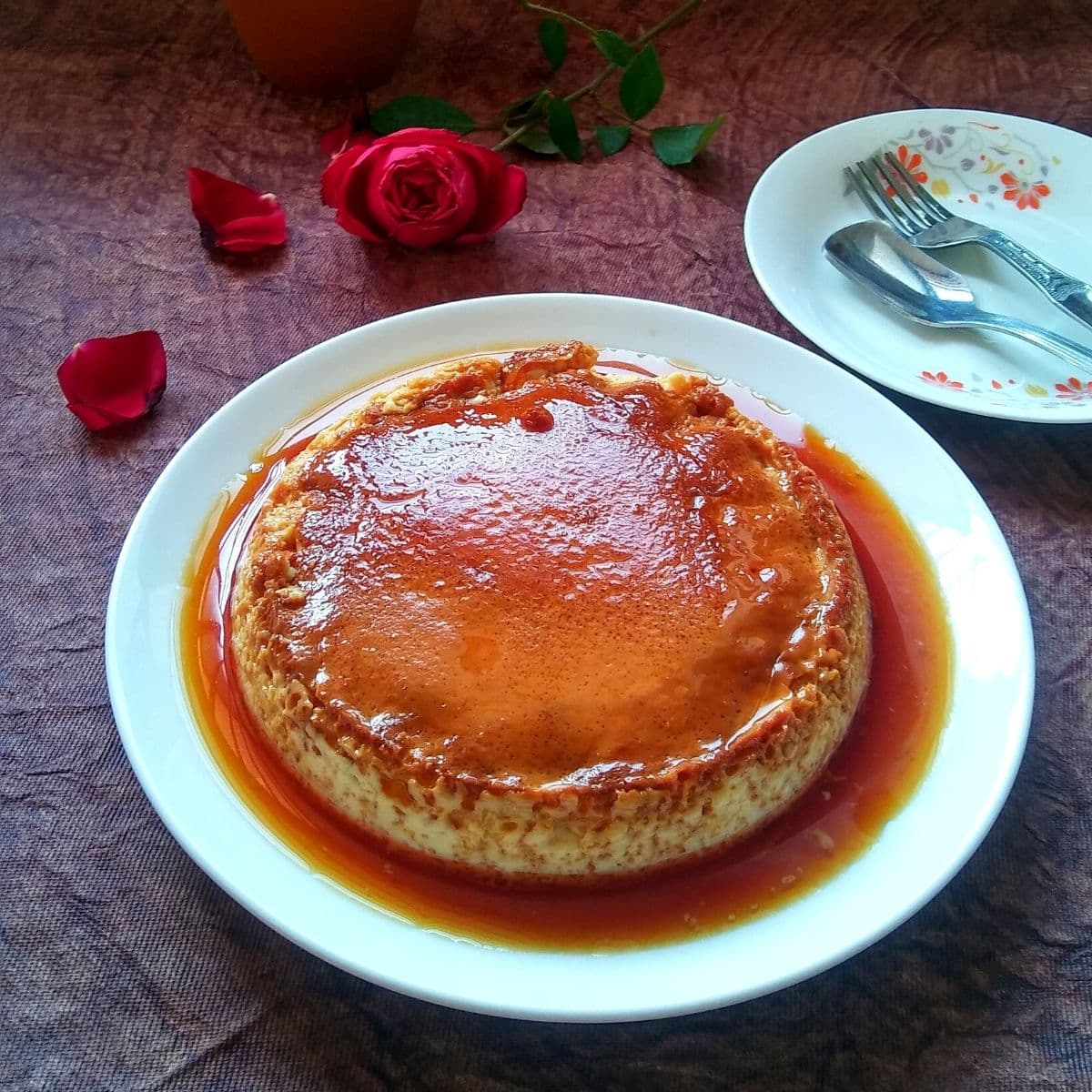 Steamed Caramel Custard Pudding Recipe
