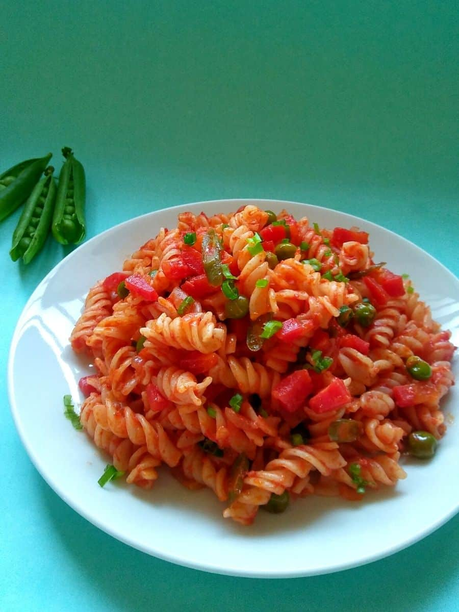 Desi Masala Pasta Recipe Indian Style 1