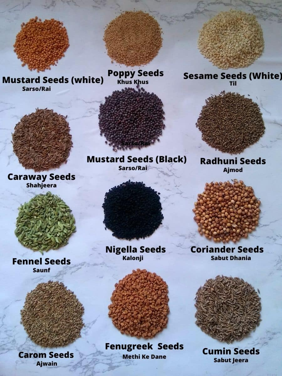 Whole Spices in seeds form