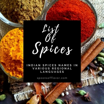 Spices List in English Hindi and Other Languages
