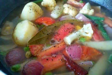 Vegetable Stew Making Steps
