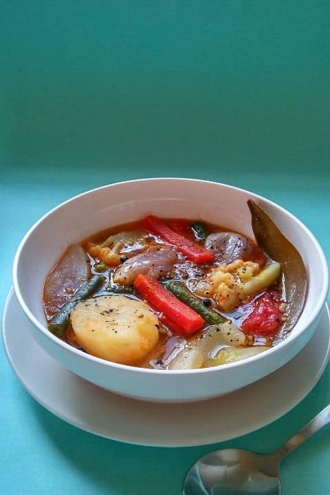 Vegetable Stew served in a bowl