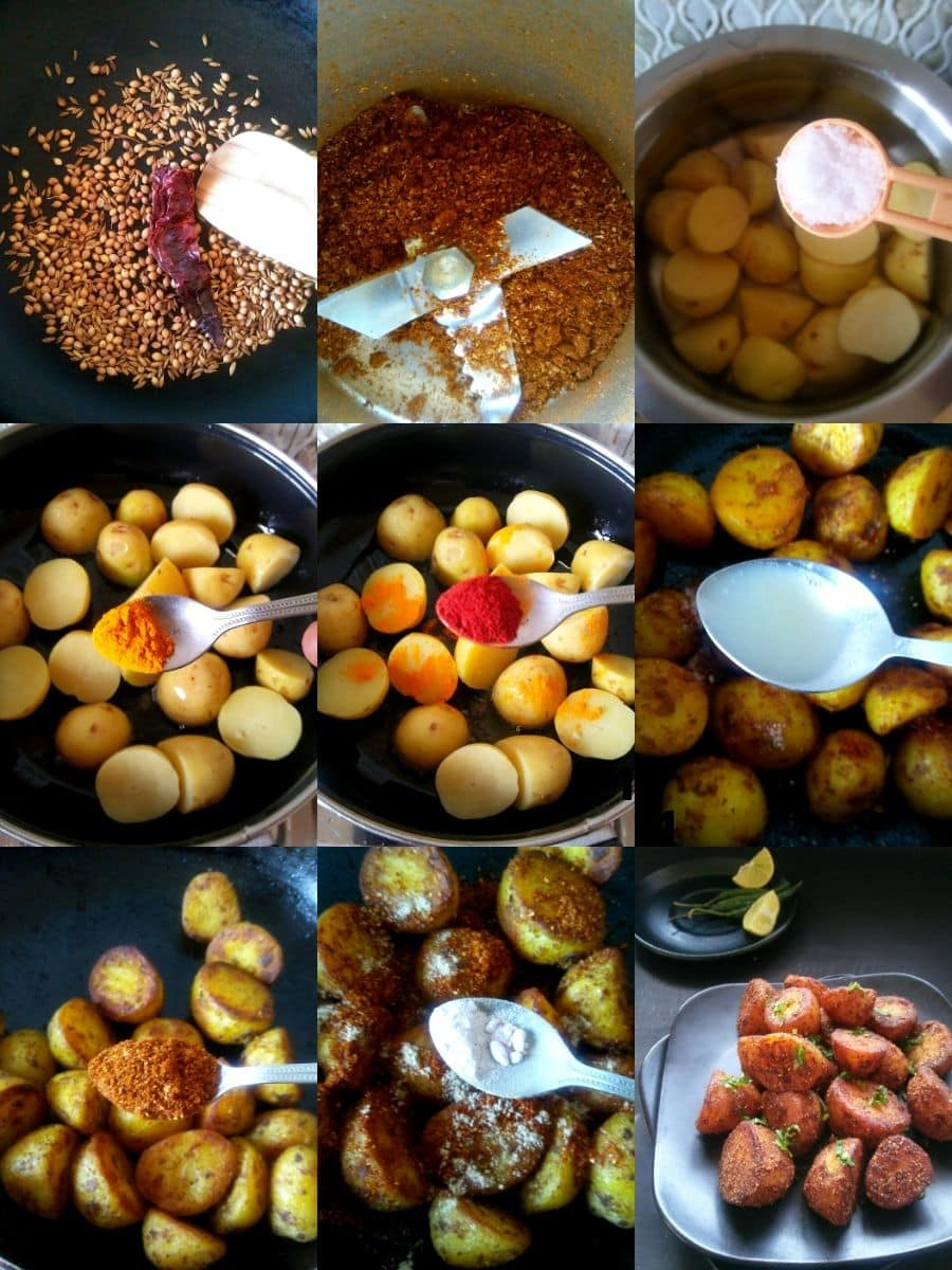 Masala Roasted Potato Recipe Steps