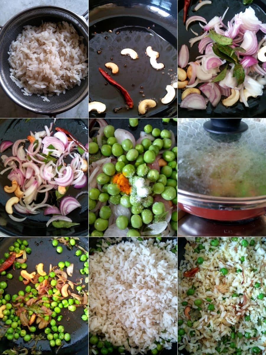 Green Peas Poha Recipe Steps