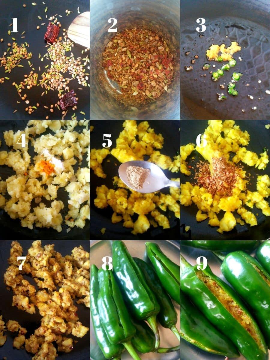 Mirchi Vada Recipe Steps