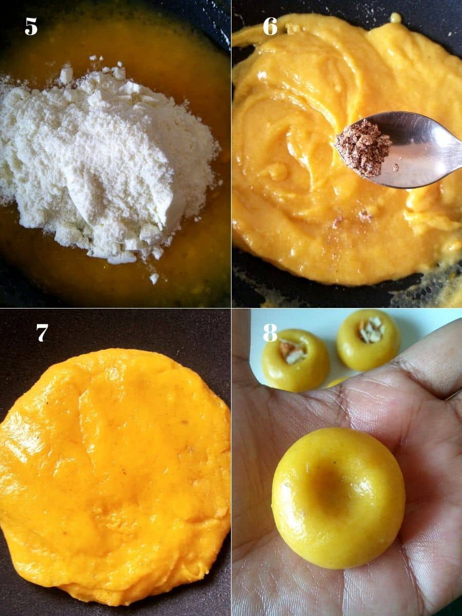 Making process of Aam Peda
