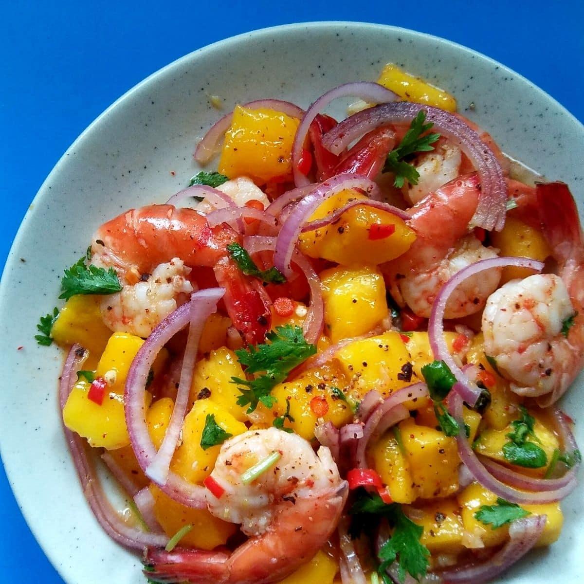 Spicy Prawn Mango Summer Salad