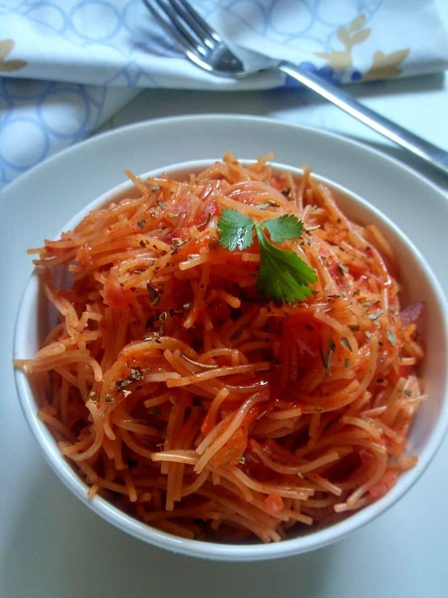 Tomato Garlic Sevai Recipe