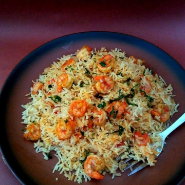 Simple Prawn Pulao Recipe
