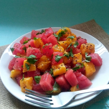 Watermelon and Mango Salad
