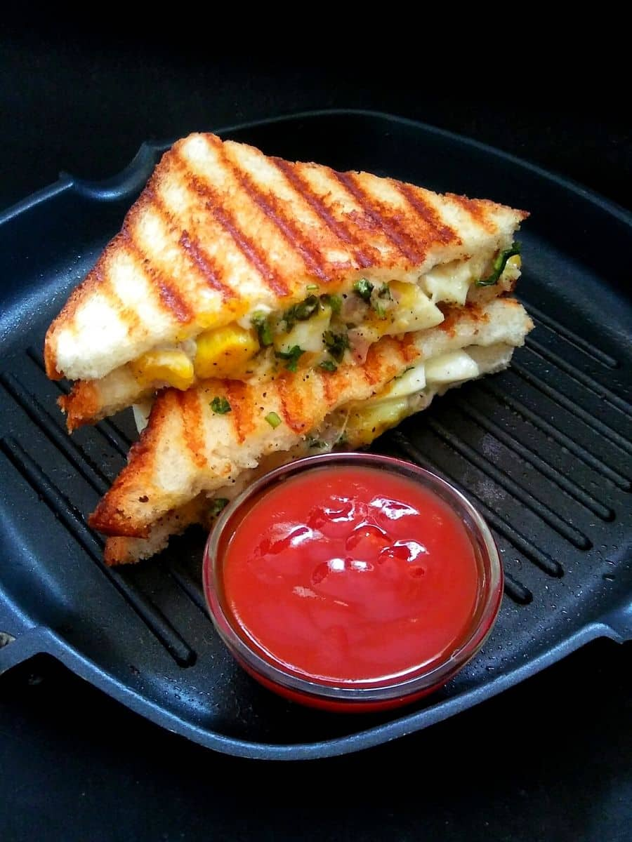 Grilled Boiled Egg Sandwich