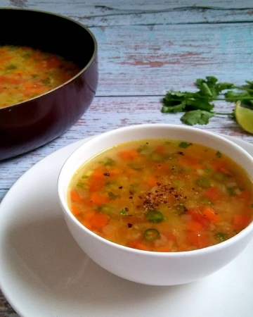 Easy Red Lentil and Vegetable Soup
