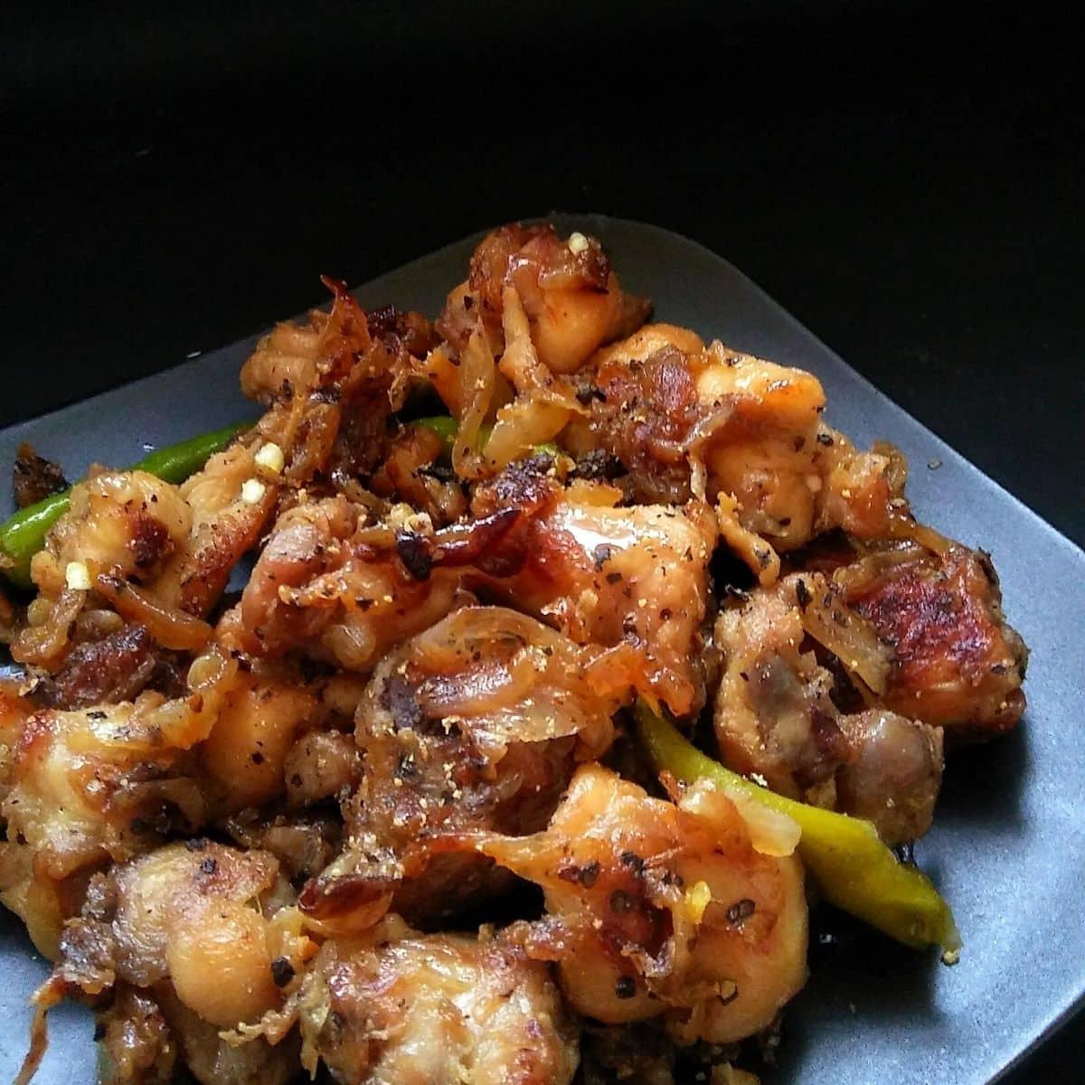 Onion Pepper Chicken Recipe