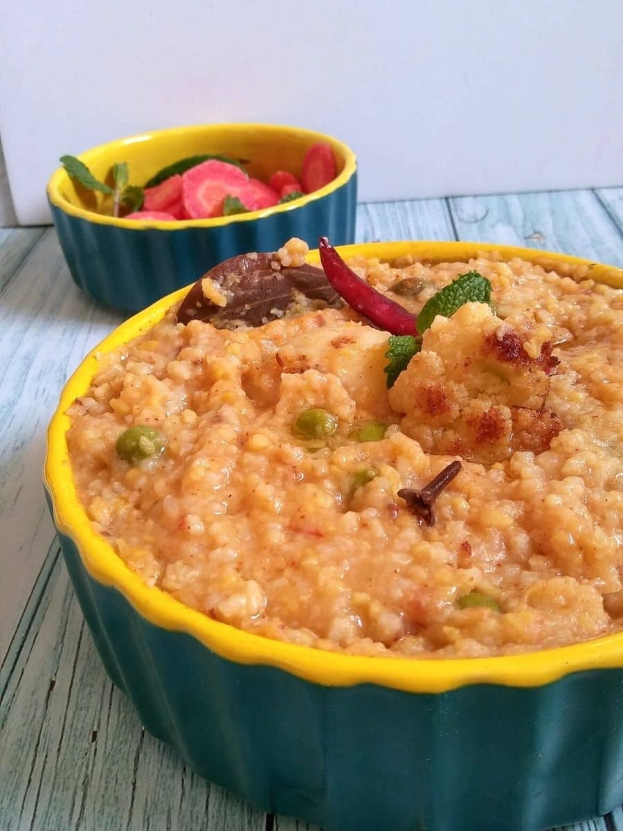 Bhoger khichdi served in a bowl