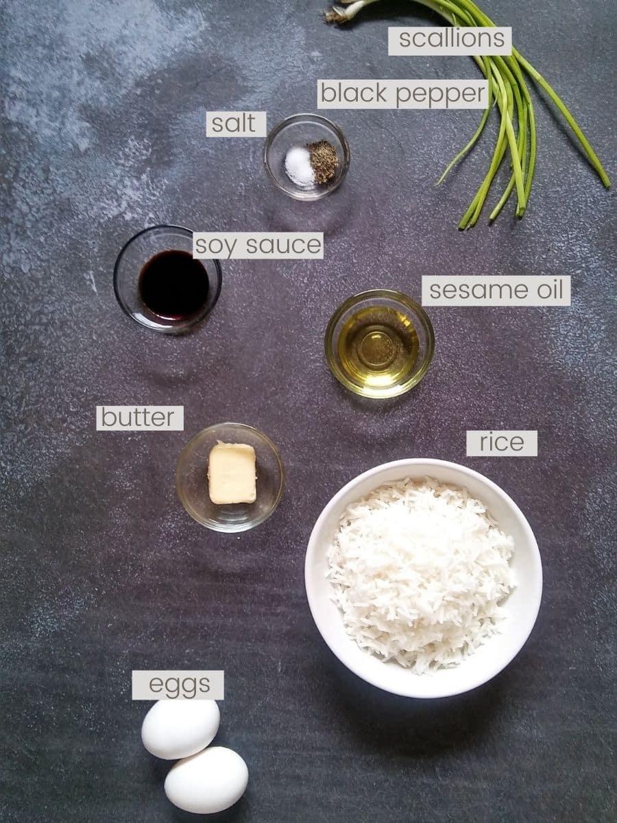 Hibachi fried rice ingredients