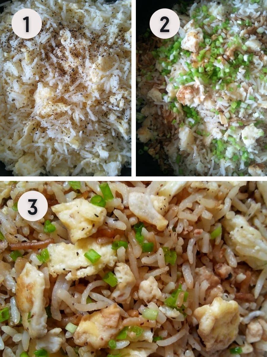 Hibachi fried rice recipe step by step