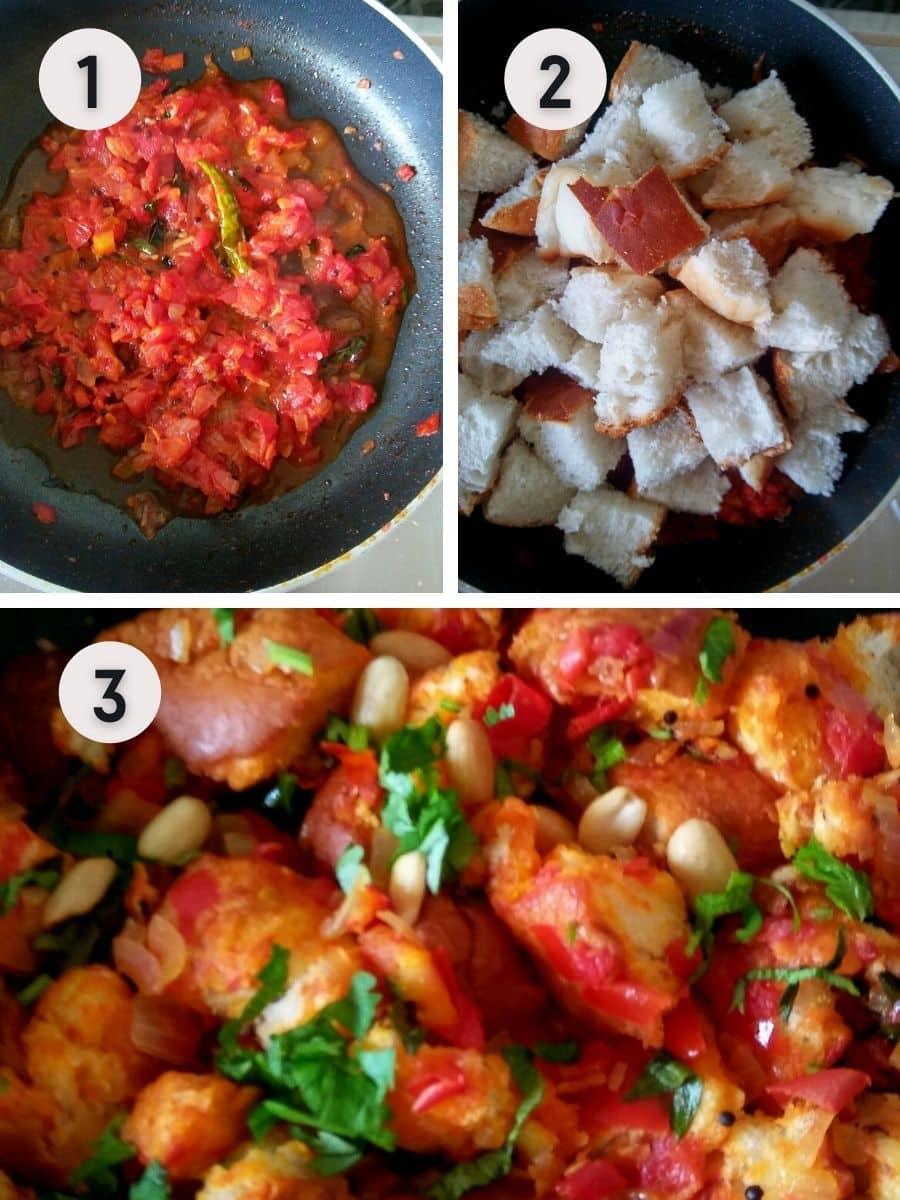 masala bread upma recipe steps