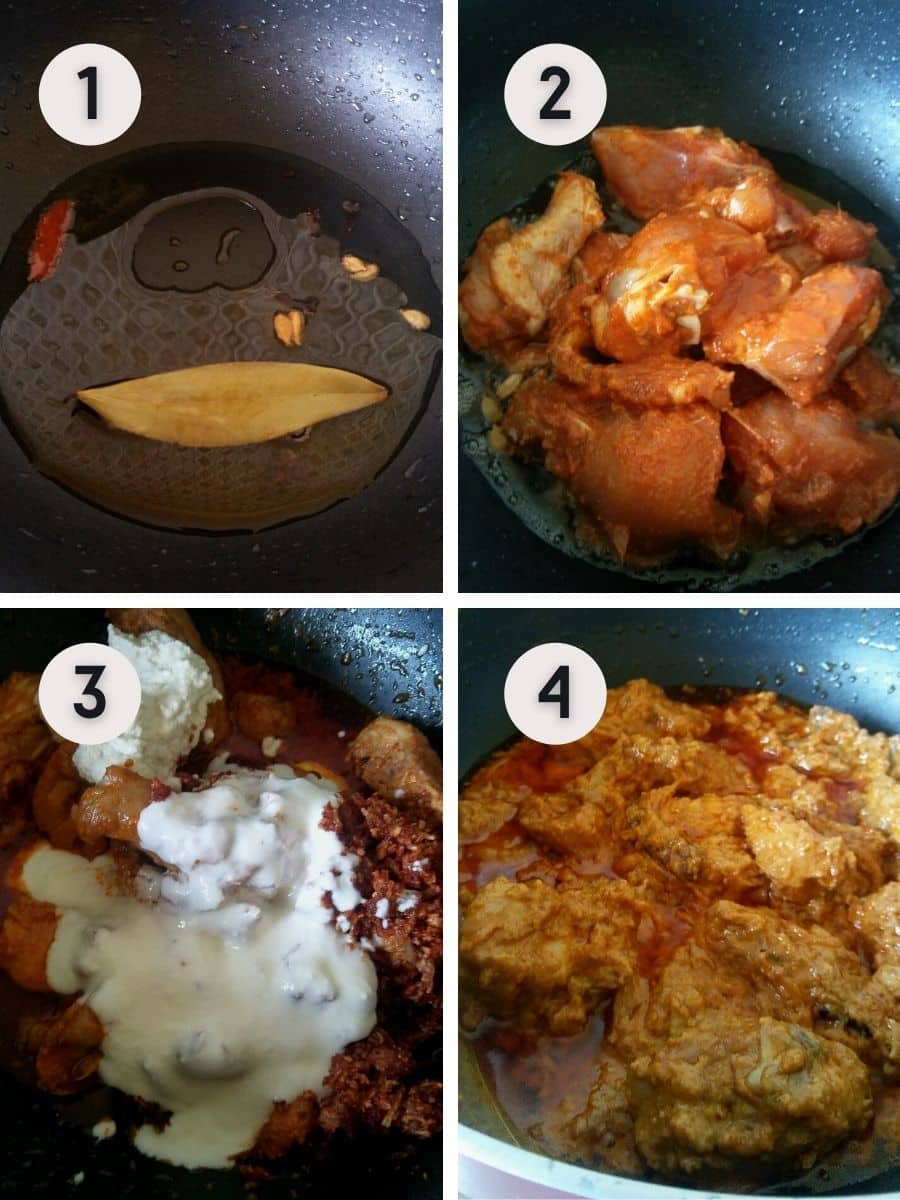 Stir frying the chicken